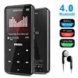 RUIZU D10 MP3 Player, Music MP4 Player Built-in Speaker Metal Style with FM Radio, Voice Recorder, E-Book, Touch Button with 2.4'' Screen, 80 Hours Playback and Expandable Up to 128 GB, Black (Color: black)