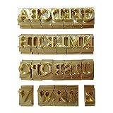 Lzttyee 26pcs Brass Alphabet Captal Letter Stamp Engraving Mold Leather Craft Seal Tool A-Z Captal Letters
