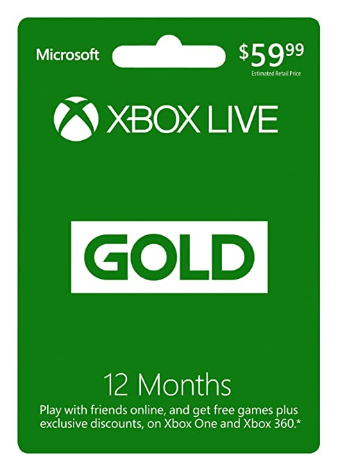 Microsoft Xbox LIVE 12 Month Gold Membership: Xbox 360: Video Games
