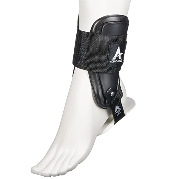 Active Ankle T2 Ankle Brace, Black Ankle Support for Men & Women, Ankle Braces for Sprains, Stability, Volleyball, Cheerleading, Medium (Color: Black, Tamaño: Medium)