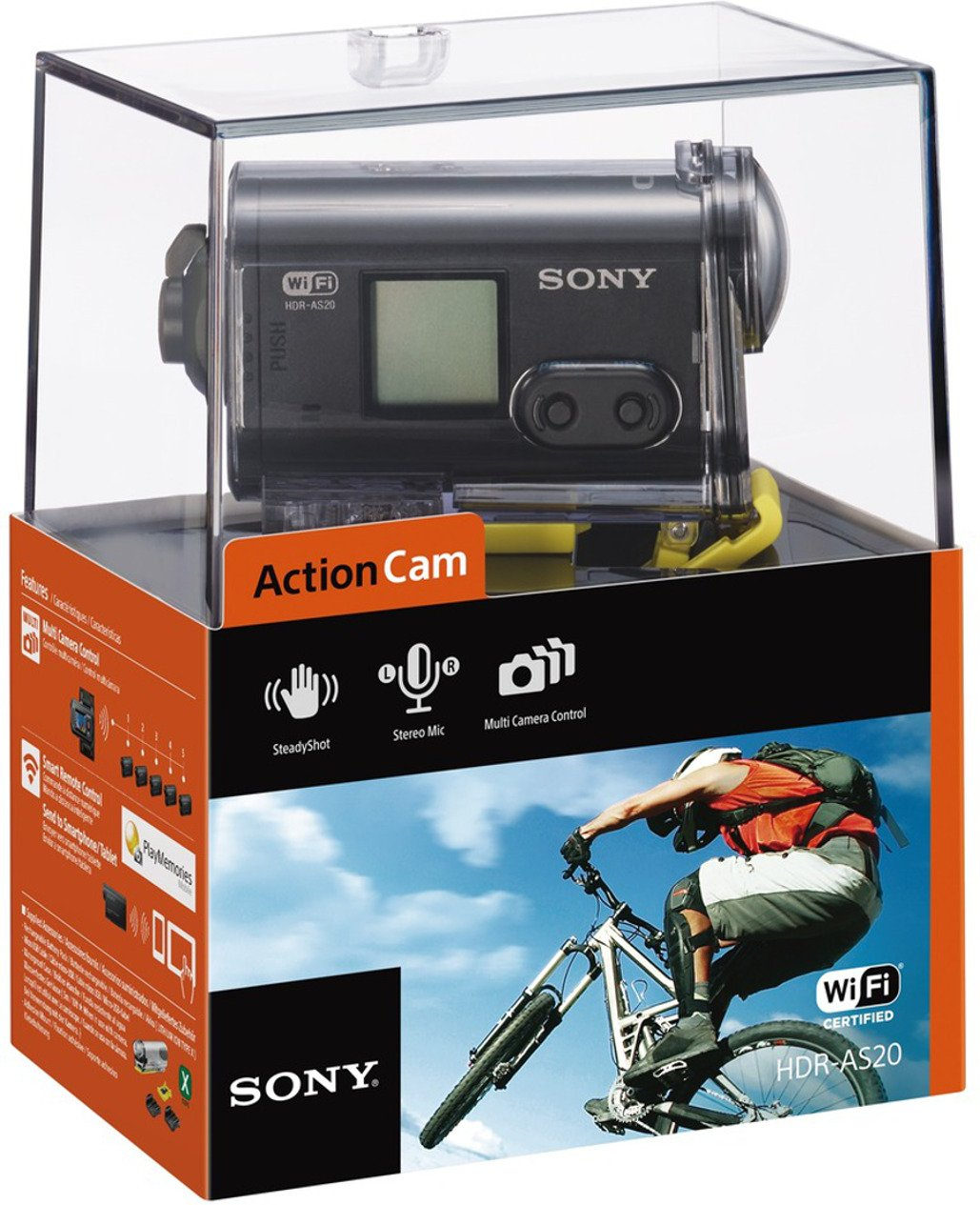 sony hdr as20 action camera 1080 pixels waterproof action. Black Bedroom Furniture Sets. Home Design Ideas