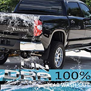 Auto safety 3D Raised Tailgate Letters for Toyota Tundra 2016 2017 2018 2019 Zinc Alloy Emblem Inserts Chrome
