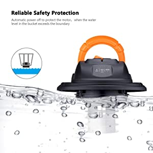 Tacklife Wet Dry Vacuum 5 Gallon, 5.5 Peak HP with 20 FT Clean Range, 4-layer Filtration System and Safety Buoy Technology for Dry/Wet/Blowing, Multipurpose Accessories Included - PVC01A (Color: Black/Orange, Tamaño: 5 Gallon)