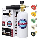 MATCC Foam Cannon Upgraded Foam Nozzle Pressure Washer Jet Wash Snow Foam Lance with 1/4'' Quick Connector Foam Blaster 5 Pressure Washer Nozzle Tips for Cleaning (Color: Foam Cannon with Nozzle Tips, Tamaño: Foam Cannon II with Tips)