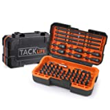 Screwdriver bit Set, 60-Pcs Torsion Bits Set For High Torque Drilling, Forged S2 Alloy Steel, 52 Dill Bits, 6 Nut Driver Bits, 1 Magnet Bit Holders and 1 Torsion-Bit, Cool Solid Case Included, PSDB1B (Color: Black)