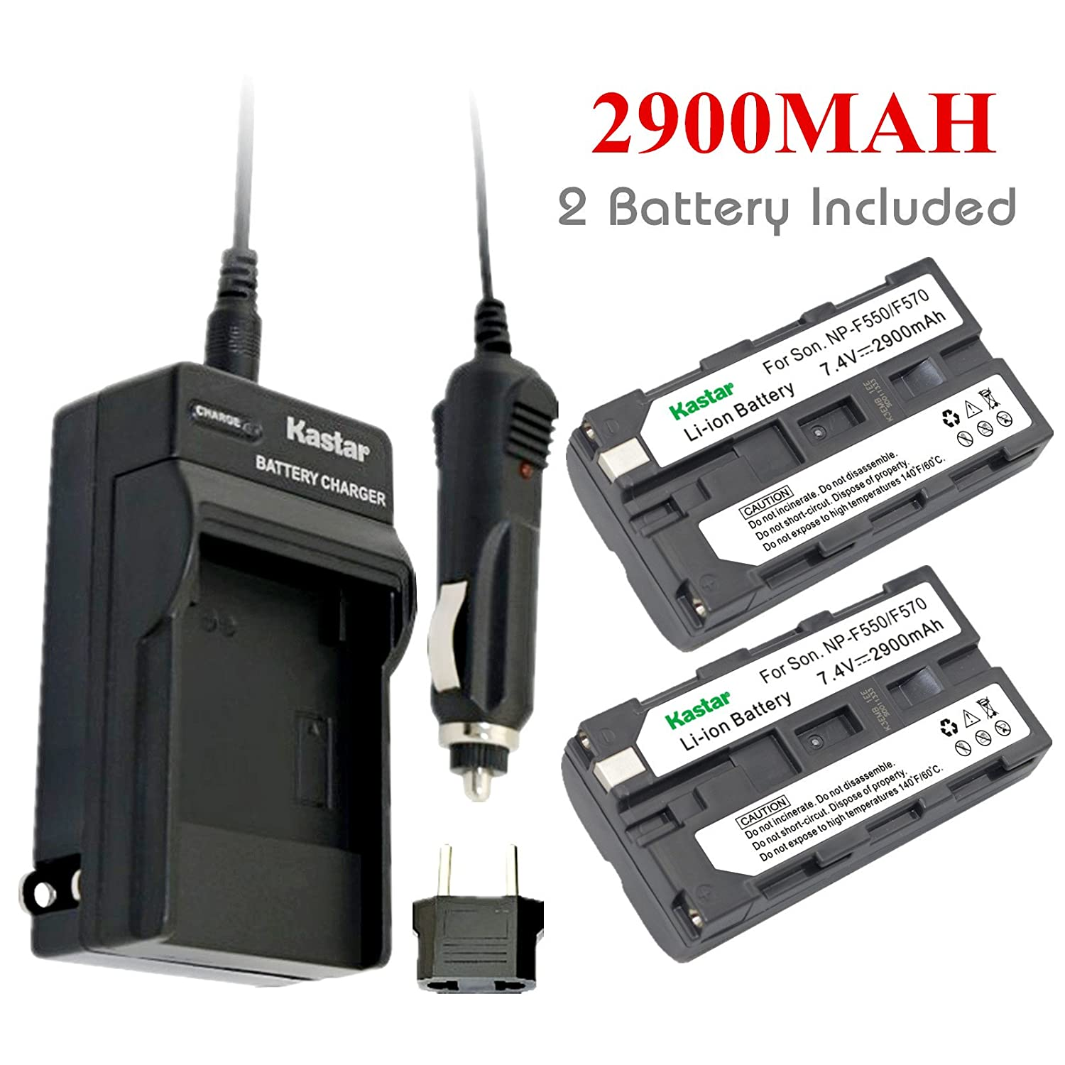 Kastar Battery and Charger for Sony NP-F570 Battery np f960 f970 6600mah battery for np f930 f950 f330 f550 f570 f750 f770 sony camera