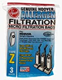 Hoover Type Z Allergen Vacuum Cleaner Replacement Bags, Package of 3