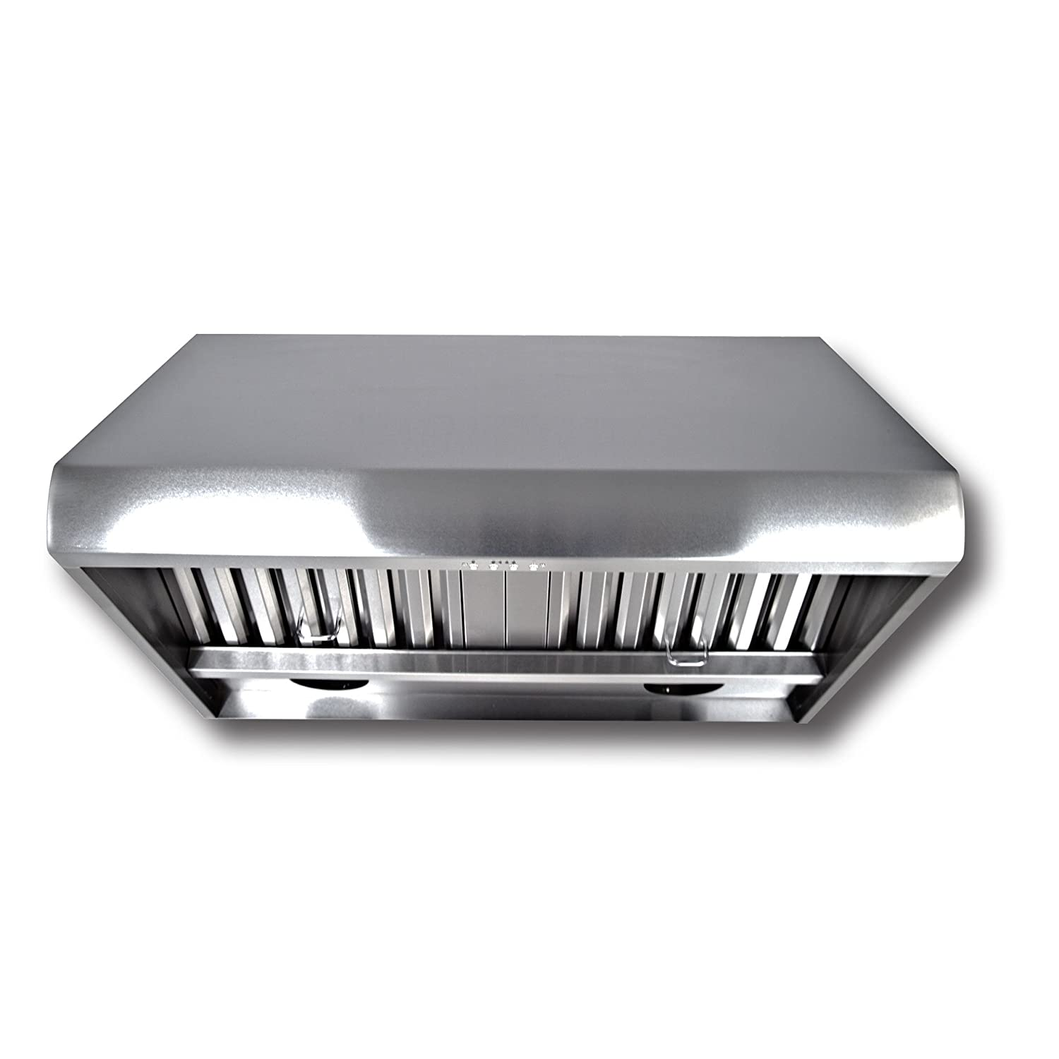 Proline PLJW 109 4 Speed Wall/Under Cabinet Range Hood - 2000 Max CFM - Stainless Professional Baffle Filters Dishwasher Safe - 3 Year Warranty - Sizes include 30 36 42 48 54 and 60 inch