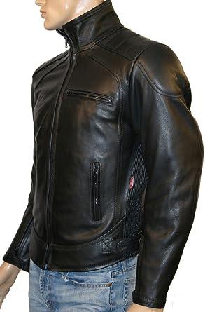 En cuir de vachette pour homme renforcée de moto avec veste DAYTONA