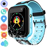 Kids Smart Watch Phone for Boys Girls – Waterproof Smartwatch Phone Touchscreen with Camera Call Voice Chat SOS Flashlight Anti Lost Alarm Clock Game Wrist Watch for Children Birthday (Color: 01 Blue Kids watch)