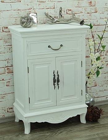 Una cómoda con cajones y dos puertas armario blanco Chic cómoda, New