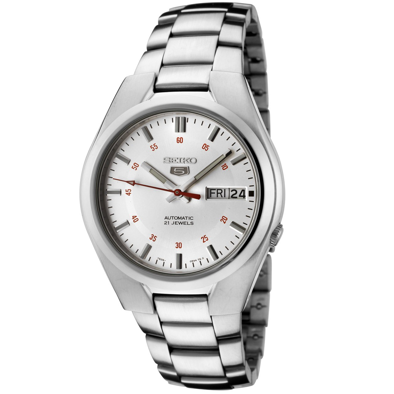 Seiko Men&#8217;s SNK613 Seiko 5 Automatic Silver Dial Stainless Steel Watch 	$59.63