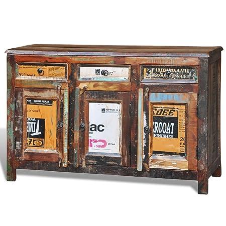Cabinet vintage Multicolore 3 tiroirs 3 portes