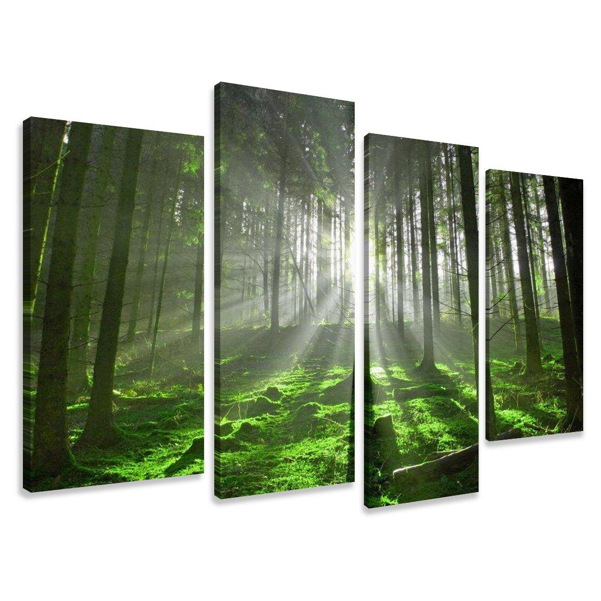 Cuadros en Lienzo naturaleza 130 x 80 cm modelo Nr. 6130 XXL Las imágenes estan listas, enmarcadas en marcos de Madera auténtica. El diseño de la impresión artística como un Mural enmarcado.  Electrónica revisión y más noticias