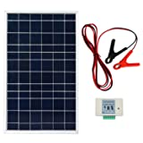 ECO-WORTHY 10W PV Polycrystalline Solar Panel System kit W/ 3A Charge Controller & 30A Battery Clips (Tamaño: 10w solar kit)
