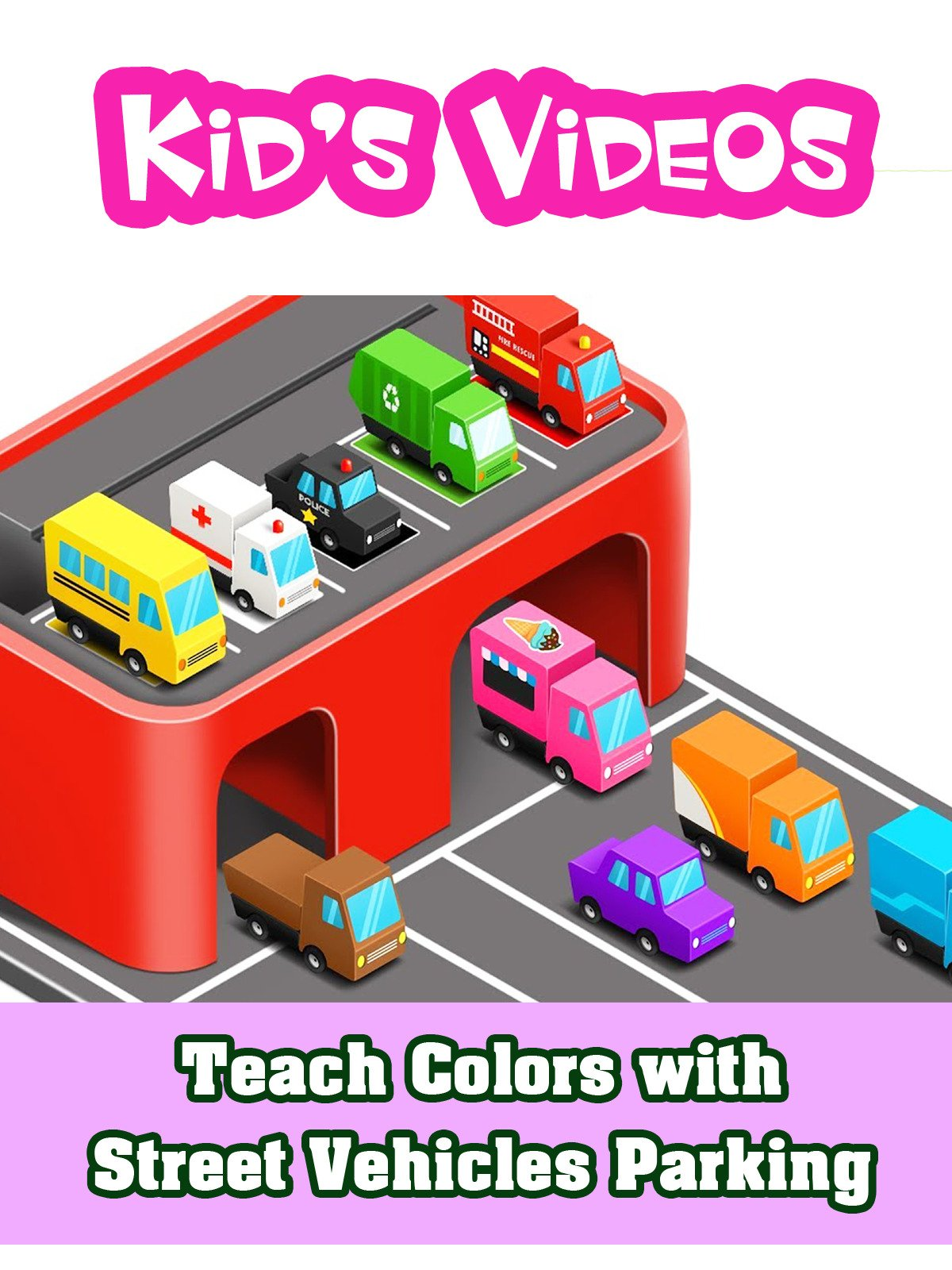 Teach Colors with Street Vehicles Parking
