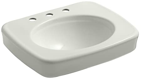 "KOHLER K-2340-8-NY Bancroft 24"" Bathroom Sink Basin with Centers for 8"" Centers, Dune"