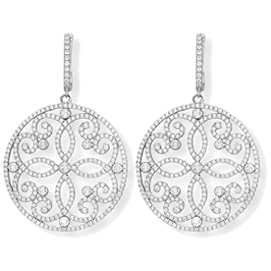 Mabina Gioielli Arabesque Earrings Silver with Zirconia 563085