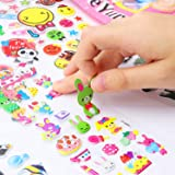 Kids Stickers(2000+ Pcs/Pack), 28 Different Sheets 3D Puffy Stickers for Teens, Toddlers, Girls and Boys. Including Animals, Cars, Trucks, Airplane, Food, Letters, Flowers, Pets and More. (Tamaño: 2000 3D Puffy Stickers)