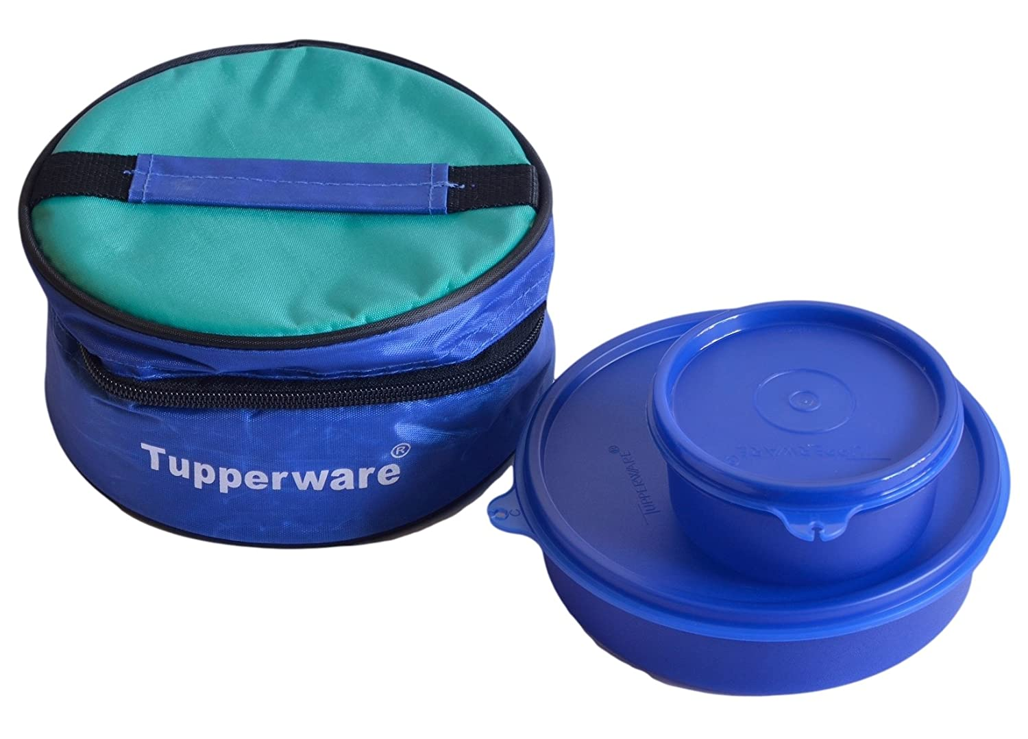 tupperware classic lunch box with bag 2 pieces 192b ebay. Black Bedroom Furniture Sets. Home Design Ideas