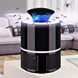 GCARTOUR Electric Mosquito Killer Lamp Bulb Bug Insect Fly Zapper Pest Trap Light 5W 6 LED (Black) (Color: Black)
