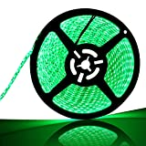 SUPERNIGHT 600 LEDS Light Strip Waterproof, 16.4FT Green LED Rope Lighting Flexible Tape Decorate Bedroom Boat Car TV backlighting Holidays Party (Color: Only Green Strip, Tamaño: 3528 Waterproof 600 Leds)