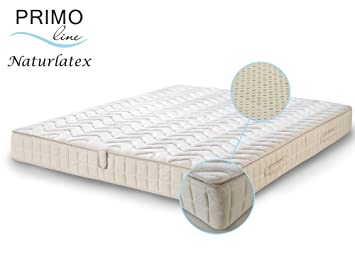 Primo Line Natur Latexmatratze NATURA - 80% Naturlatex 7 Zonen Matratze 180x200 H3 Höhe 20 cm RG 83 (bis 125 kg) - Doppeltuch-Bezug waschbar - ÖKO TEX® zertifiziert