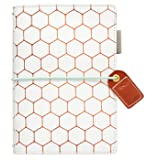 Webster's Pages Copper Hexagon Pocket Traveler Journal (TN001-H) (Color: Copper Hexagon)