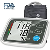 Urion Blood Pressure Monitor Sphygmomanometer - Blood Pressure Machine Easy To Read Bp Monitor, Automatic Blood Pressure Monitor Upper Arm 2 user mode (Color: Upper Arm Blood Pressure Monitor, Tamaño: Arm)