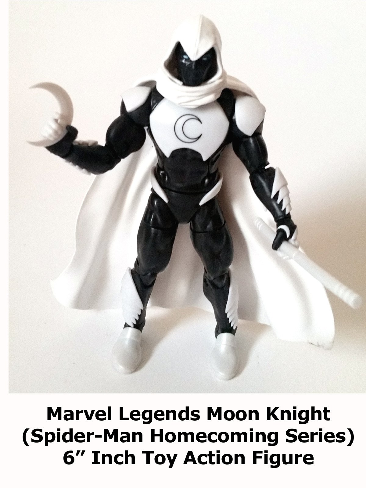 "Review: Marvel Legends Moon Knight (Spider-Man Homecoming Series) 6"" Inch Toy Action Figure"