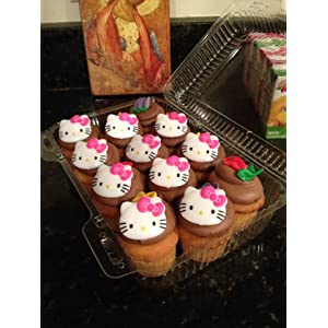 HELLO KITTY CUPCAKE OR CAKE RINGS SET OF 12