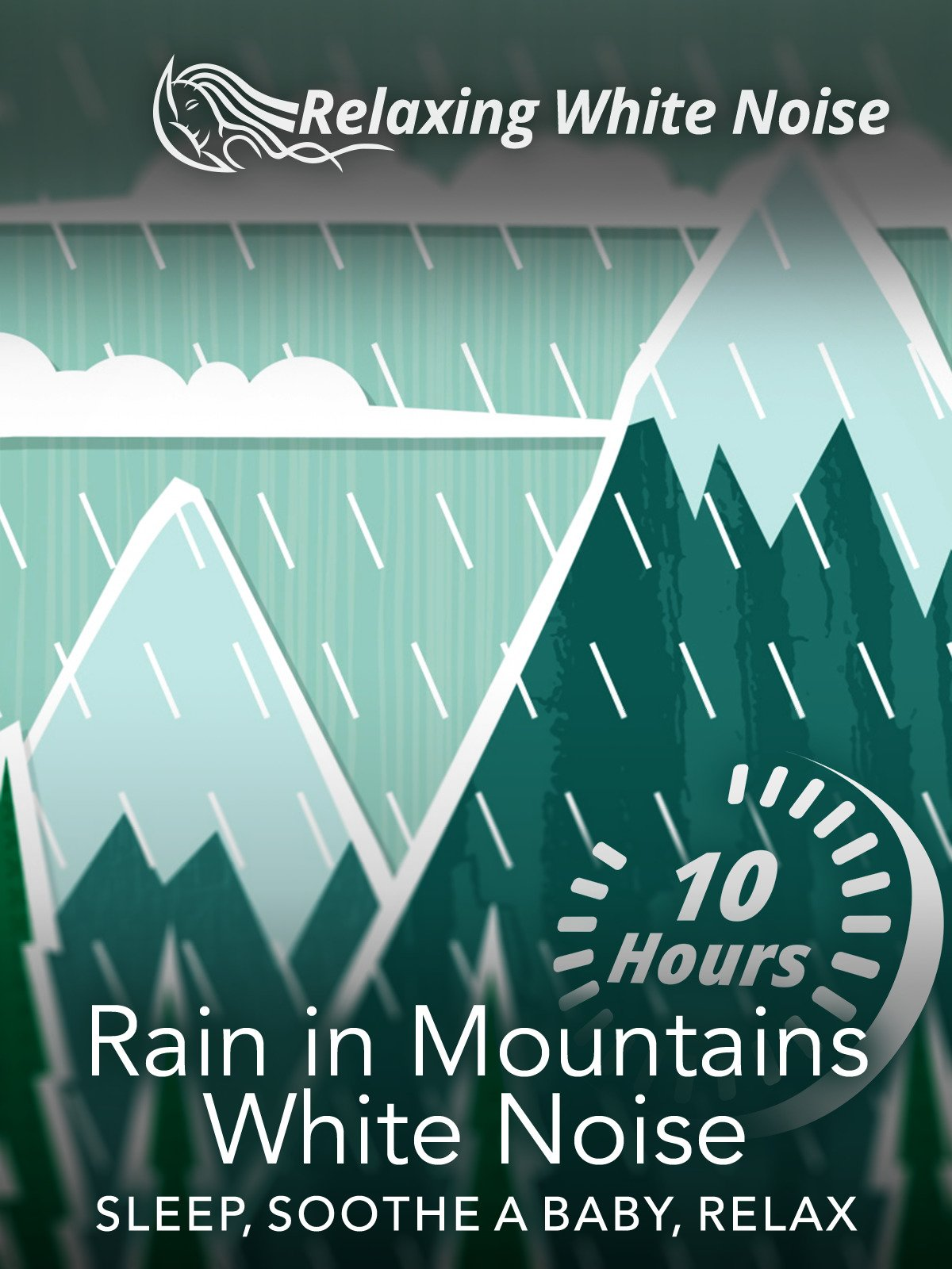 Rain in Mountains White Noise 10 Hours