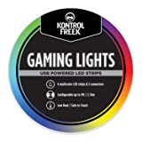 KontrolFreek Gaming Lights: LED Strip Lights, USB Powered with Controller, 3M Adhesive for TV, Console, PC, Wall (15 Ft) (Tamaño: 15 Ft)
