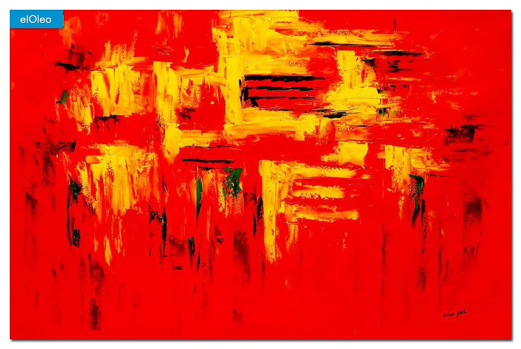elOleo Abstrakt – Hot summeranta Fe 120×180 Gemälde auf Leinwand handgemalt 83586A online kaufen