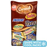 MARS Chocolate Caramel Lovers Fun Size Halloween Candy Bars Variety Mix 37.64-Ounce 60-Piece Bag (M&M'S, SNICKERS, TWIX & MILKY WAY) (Color: Basic, Tamaño: 60 Pieces)