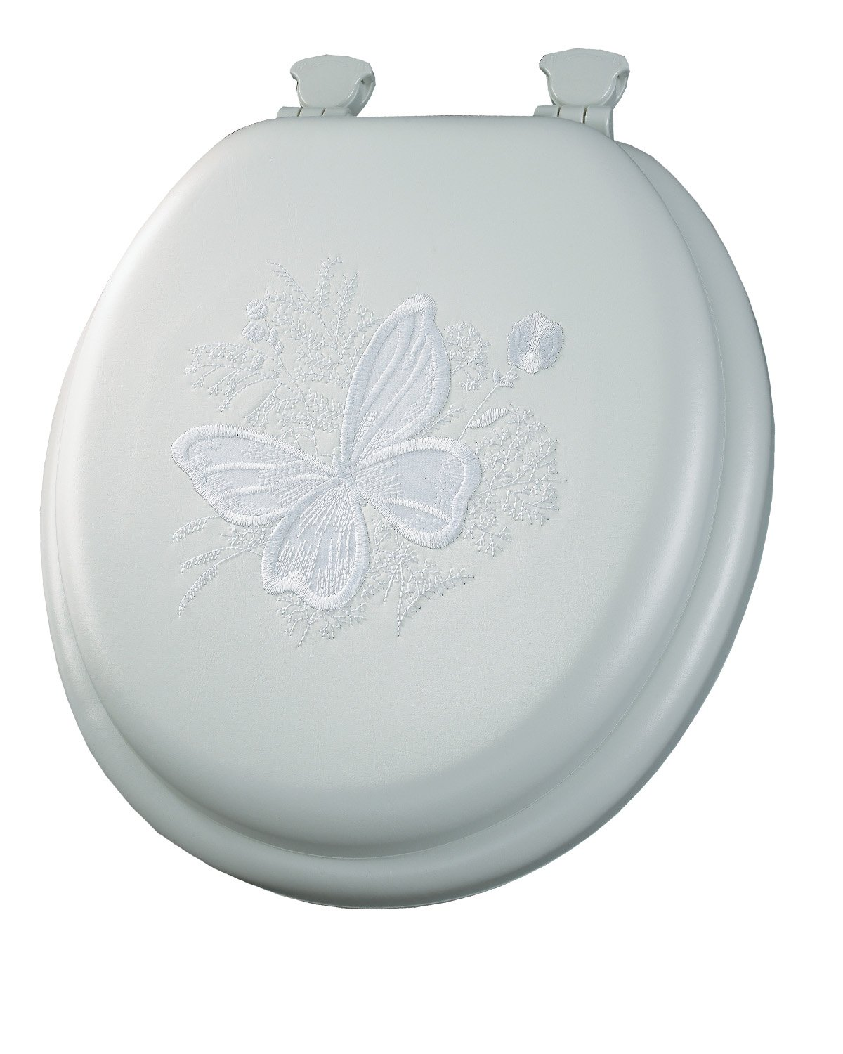 Mayfair 1386EC 000 Butterfly Embroidered Soft Toilet Seat