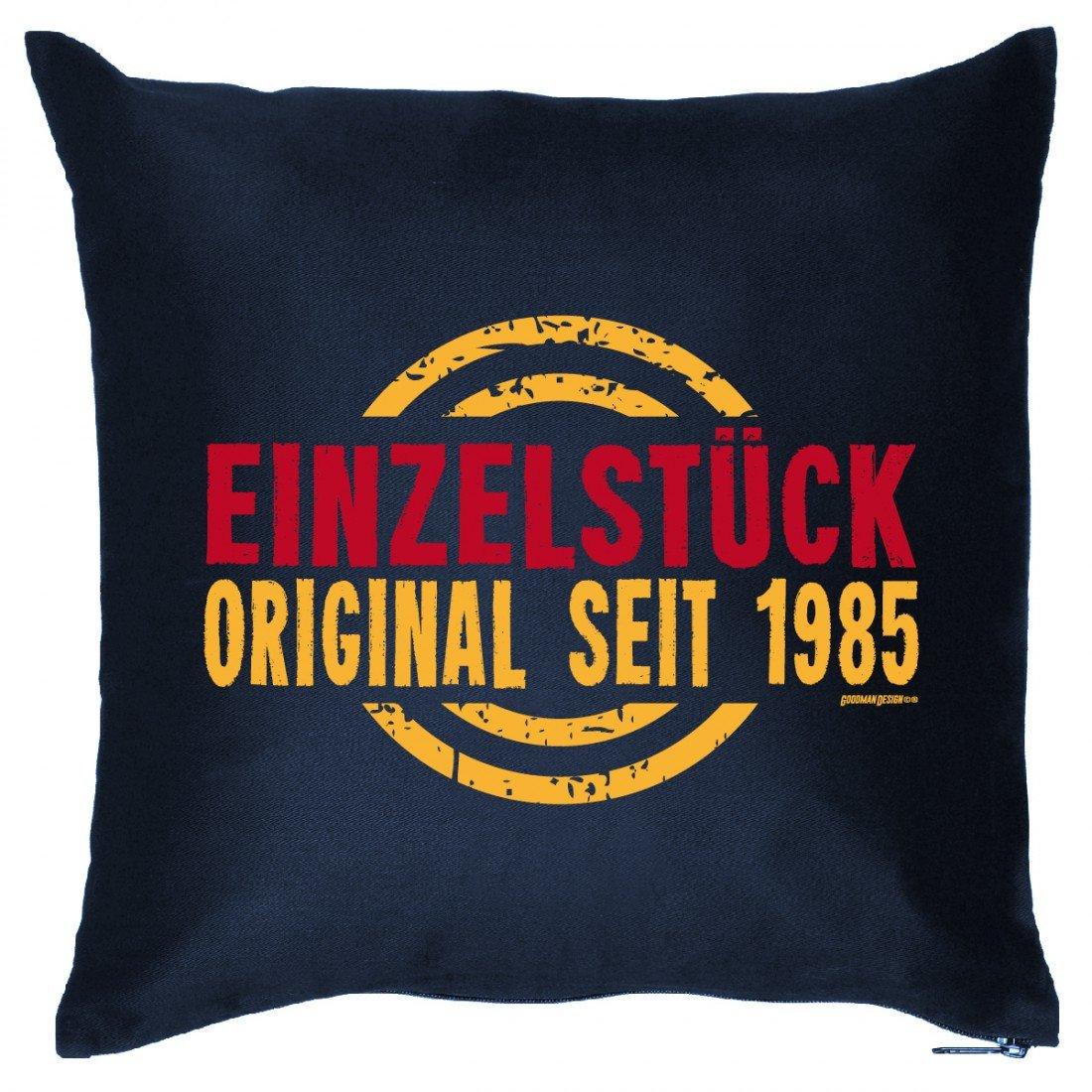 Couch Kissen mit Jahrgang zum Geburtstag – Einzelstück Original 1985 – Sofakissen Wendekissen mit Spruch und Humor günstig