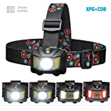 YDP-SPORT Headlamp,Superbright,Lightweight,Smart Touch Sensitive Led Headlamp, Headlight for Camping Headlamp,Hiking Headlamp,Running Headlamp,Reading Headlamp,Indoor or Outdoor Portable lamp.