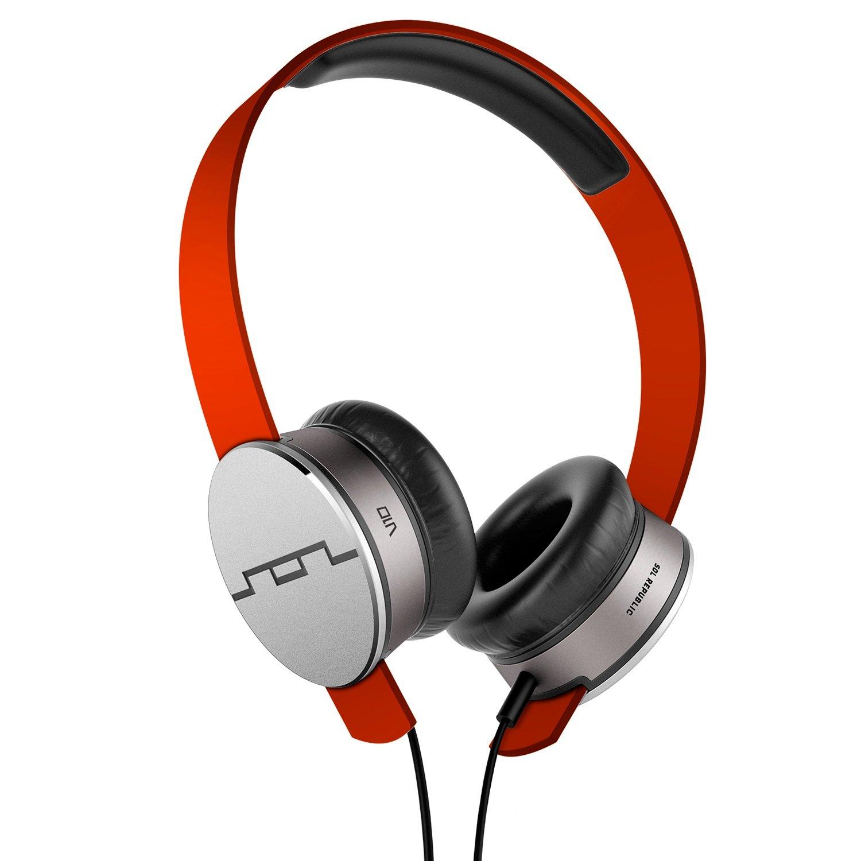 SOL REPUBLIC Tracks HD On-Ear Headphones - Fluoro Red (1241-23) sol republic tracks v8 on ear headphones blue