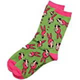 Bob's Burgers Louise Toss Women's Crew Socks (Color: Green, Tamaño: One Size)