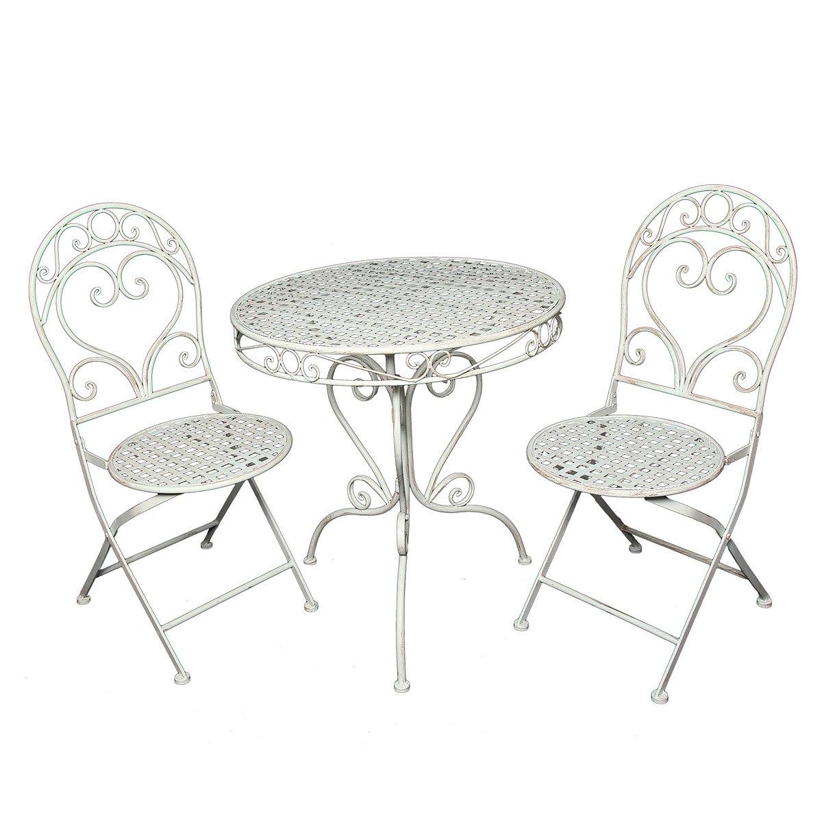 Ambiente Haus 94512 Tisch und 2 Stuhl Set, weiß bestellen