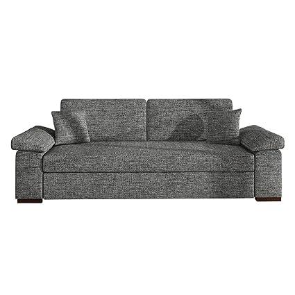 Schlafsofa Dora, Sofa mit Bettkasten und Schlaffunktion, freistehendes Bettsofa, Dauerschläfer-sofa, Schlafcouch, Couch vom Hersteller, Couchgarnitur (Kongo 730)