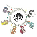 My Little Pony: Friendship is Magic Cartoon Theme Multi Charms Jewelry Bracelets Charm by Family Brands (Color: multicolored)