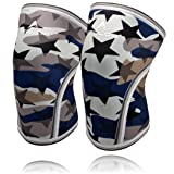 Knee Sleeves (1 Pair), 7mm Thick Compression Knee Braces Offer Strong Support for Weightlifting | Cross Training | Powerlifting | Bodybuilding | Squats | Gym and Other Sports (Large, Star Camo) (Color: Star Camo, Tamaño: Large)