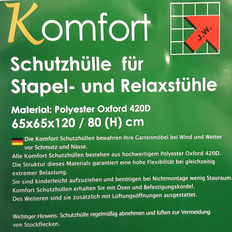 Schutzhülle Haube Plane für Stapelstühle und Gartenstühle v MACO 65x65x120/80cm günstig online kaufen