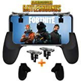 Fortnite PUBG Mobile Controller - SVZIOOG Mobile Game Controller(1Pair+1Gamepad),Cellphone Game Trigger Mobile Gaming Joysticks for Android iOS (Fortnite PUBG Mobile Triggers 1)
