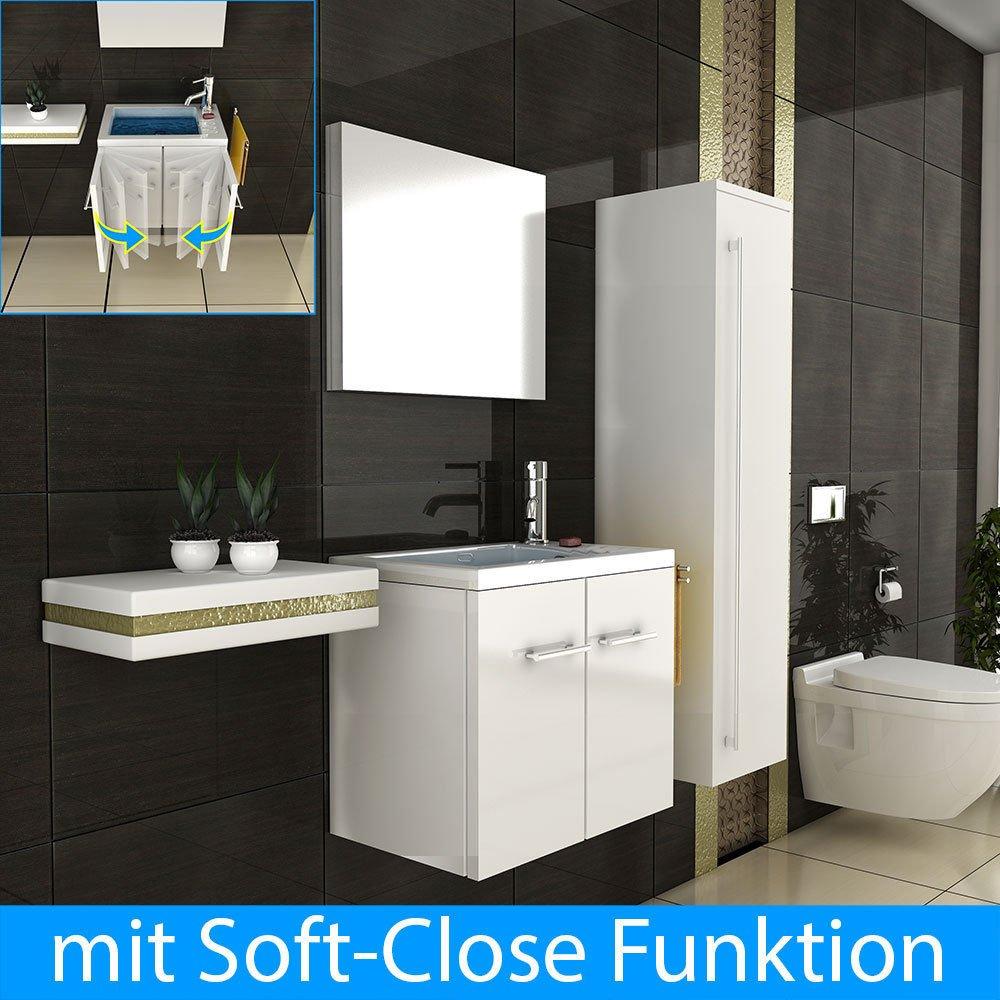 Badmöbel Waschbecken Spiegel Badezimmer Design Badmöbel mit Spiegel Einrichtung für´s Badezimmer Waschtisch Waschplatz Lösung   Kritiken und weitere Informationen