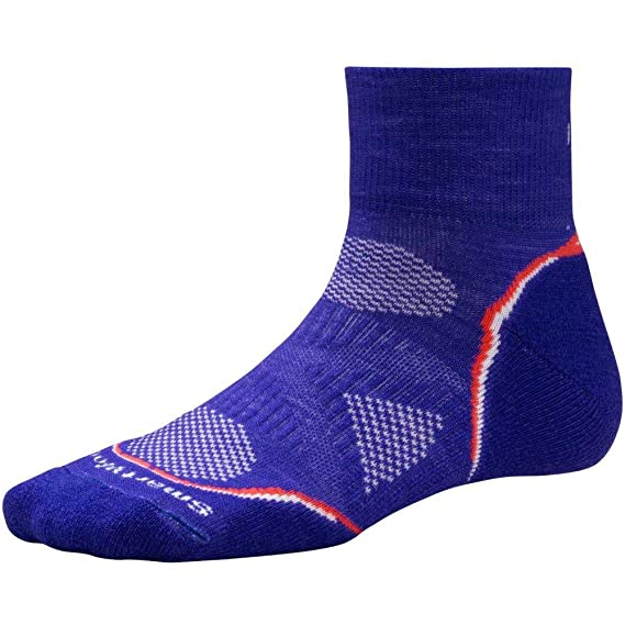 Smartwool womens Smartwool Womens PhD Run Light Mini Ankle Socks SW070 Purple