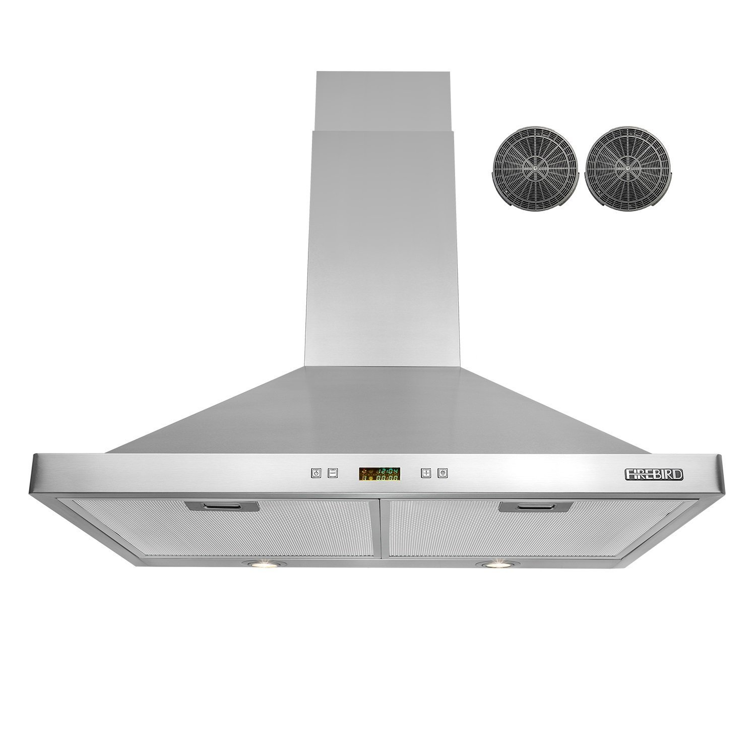 "FIREBIRD 30"" Wall-mounted Stainless Steel Range Hood with Charcoal Filters / Carbon Filters Included"