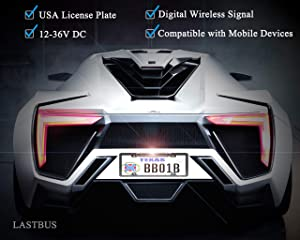 License Plate Wireless Backup Camera, WiFi Rear View Camera, LASTBUS 170° View Angle Universal IP69 Waterproof Car License Plate Frame Camera for Cars RV Box Truck SUV Pick Up Truck Van (Color: Black, Tamaño: AppKit)